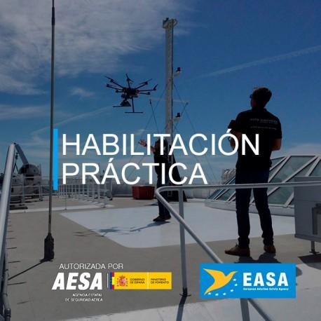 Habilitación práctica de piloto profesional de drones AESA