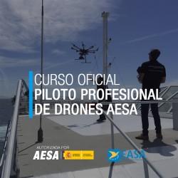 Certificado Oficial de Piloto Profesional de Drones AESA