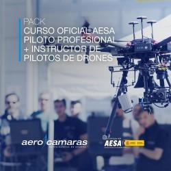 Pack Curso Oficial Piloto Profesional + Curso Inspecciones Técnicas con Drones