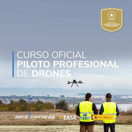 Certificado oficial de piloto profesional de drones AESA + Habilitación Práctica