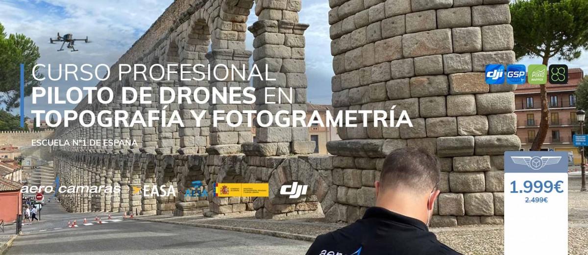 Curso Profesional de piloto de drones en topografía y fotogrametría